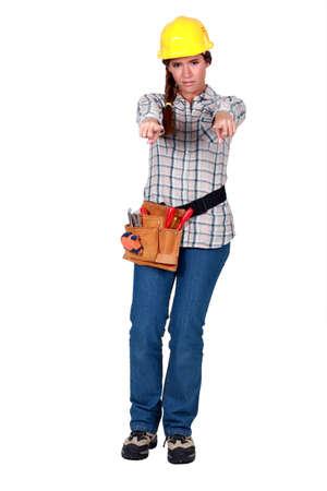 Female mason pointing Stock Photo - 17732310