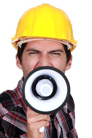 claims: A construction worker calling a strike