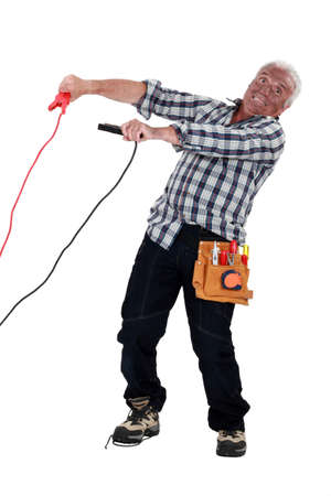 electric current: electrician hit by the electric current