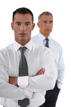 Two confident businessmen photo