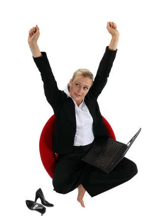 Woman stretching Stock Photo - 17732270
