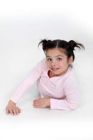 Little girl on fashion shoot photo
