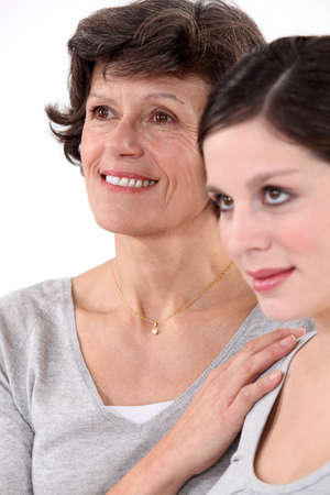 portrait of mother and daughter photo