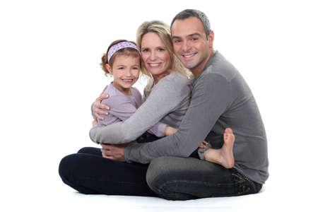 Familia abrazo