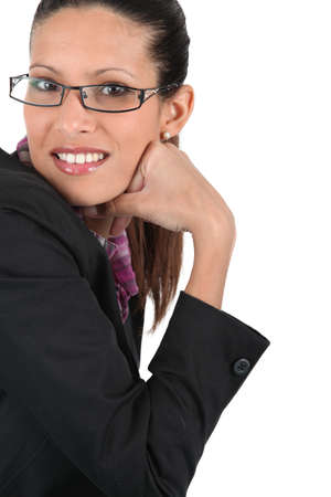 Woman posing in trendy glasses Stock Photo - 17716253