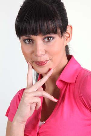 blithe: mujer morena de mirada p�cara