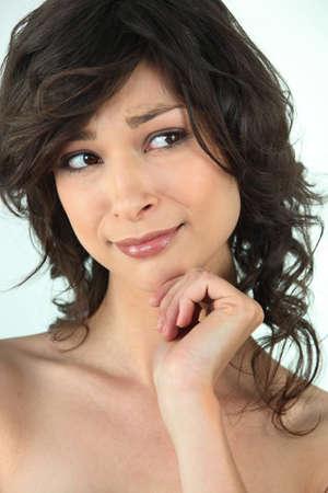 Portrait of a doubtful woman Stock Photo - 17732663