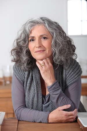 mature woman posing photo