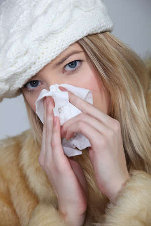 Woman suffering from cold Stock Photo - 17732513