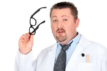 a scientist or a doctor taking glasses in his hand Stock Photo - 17732958