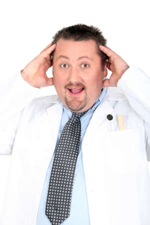 Shocked male doctor Stock Photo - 17733036