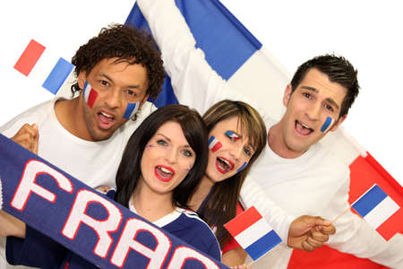 supporters: french soccer supporters Stock Photo