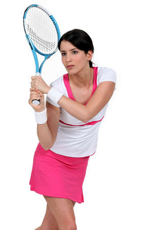 skinny woman: woman playing tennis