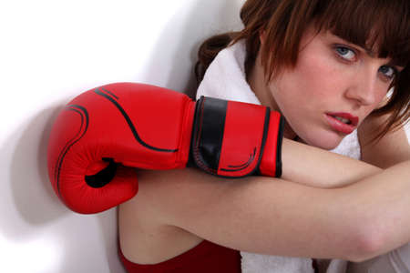 Female boxer Stock Photo - 17732862
