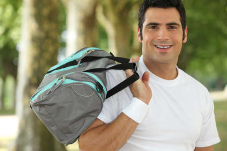 man going to the gym Stock Photo - 17732995