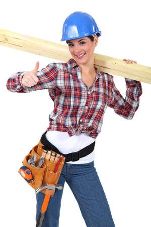 Female carpenter Stock Photo - 17904350