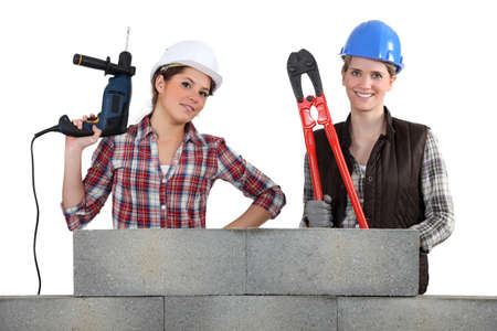 A team of tradeswoman photo