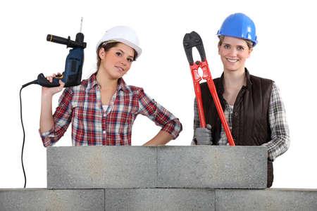 tradeswomen: A team of tradeswoman