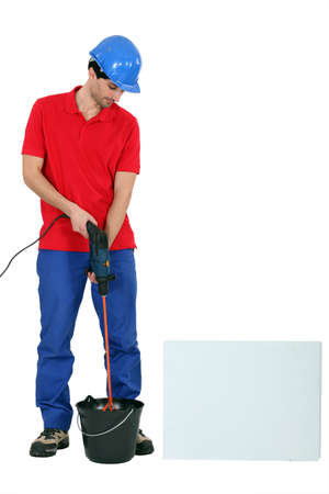 journeyman technician: tradesman at work