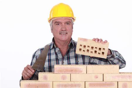 bricklayer: Alba�il construcci�n de muros