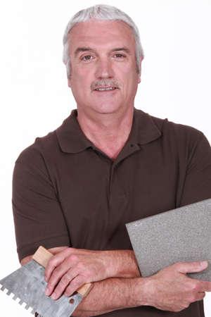 Portrait of a tiler photo