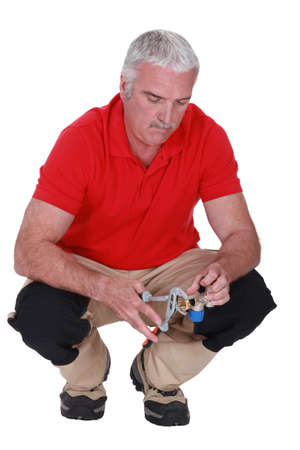 Portrait of a plumber Stock Photo - 17904116