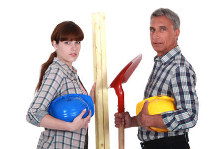 workwoman: A team of tradespeople
