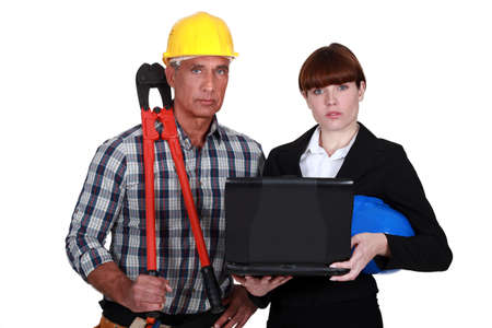 An architect and her foreman. photo