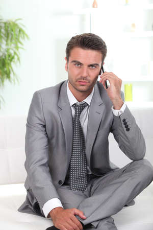 Businessman in waiting area photo