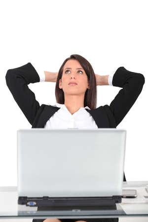 Businesswoman thinking photo