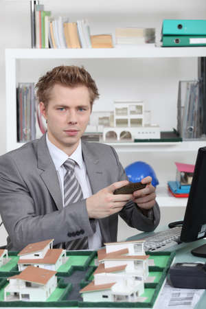 An architect in his office Stock Photo - 17904338