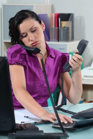 overworked employee photo
