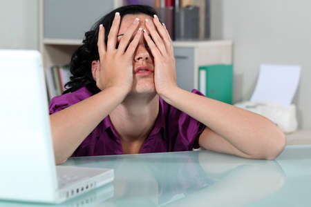 Despairing office worker Stock Photo - 17976645