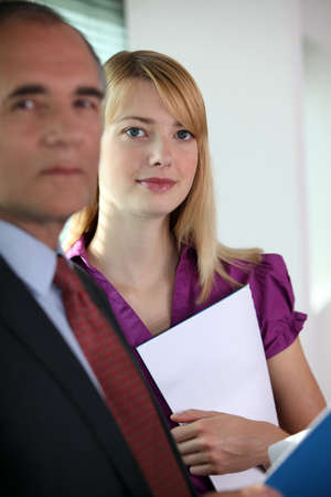 human resource affairs: Boss and personal assistant
