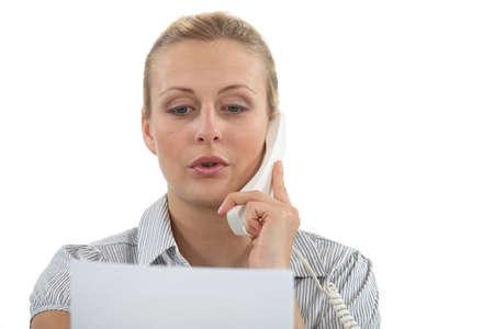 businesswoman talking on the phone Stock Photo - 17976504