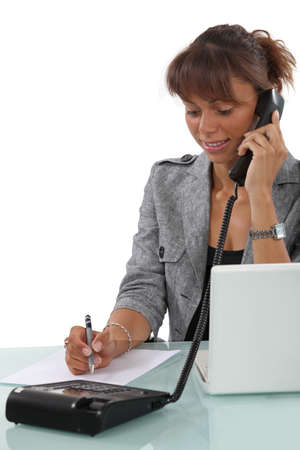 Secretary busy at work Stock Photo - 17976660