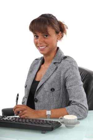clerical: Portrait of a secretary Stock Photo