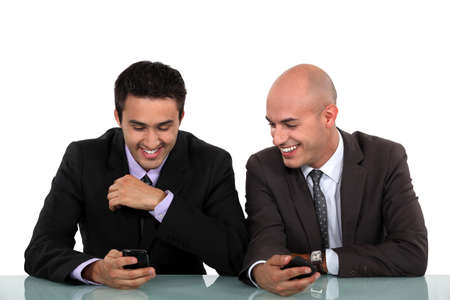 blithe: Colleagues laughing together Stock Photo