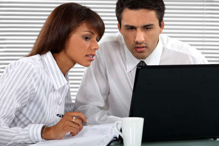 Business professionals working together on a project Stock Photo - 17977484
