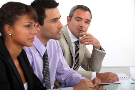 Three people on interview panel Stock Photo - 17976717