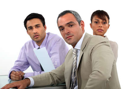 A team of business professionals having a meeting Stock Photo - 17976661