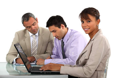 Colleagues working together on a project Stock Photo - 17976597