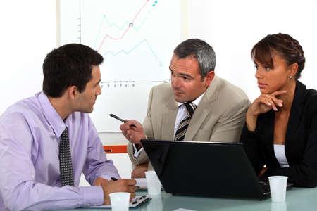 business teamwork: Business meeting Stock Photo