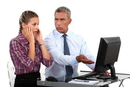 horrifying: Boss highlighting mistake