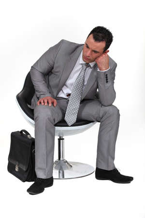 Pensive businessman photo