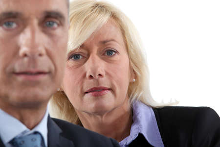 mid age: Middle-aged business couple Stock Photo