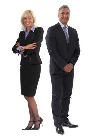 Happy senior business couple photo