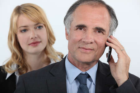 executive affable: Man and woman behind your Stock Photo