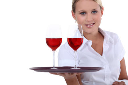 alcohol server: Here is your wine