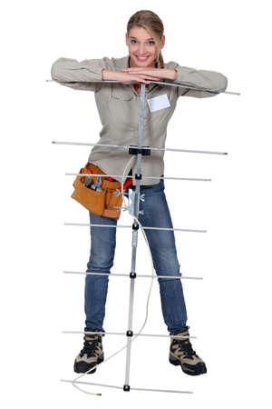 installer: Young antenna installer